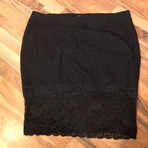 Torture black lace pencil skirt